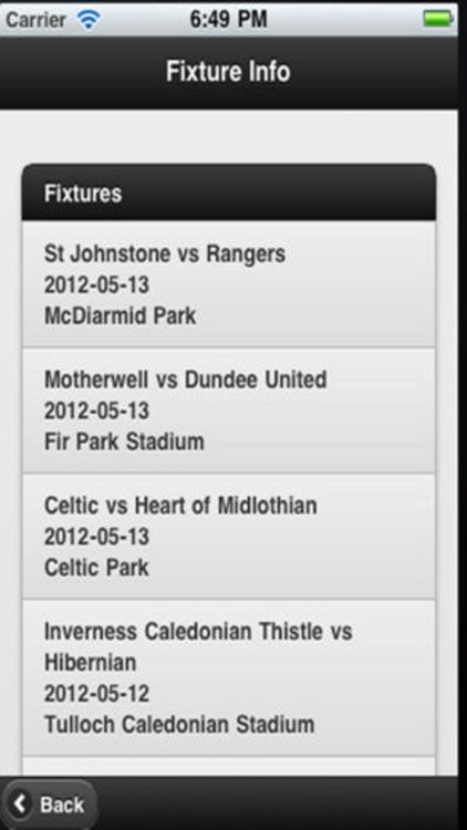Scottish Football App