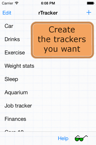 rTracker: Track It Your Way - náhled