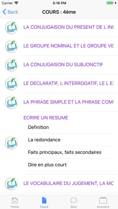 Cours de Français screenshot 6