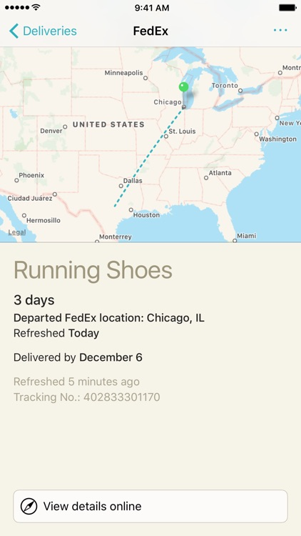 Deliveries: a package tracker screenshot-0