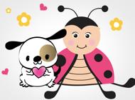 Ladybug Beetle Stickers
