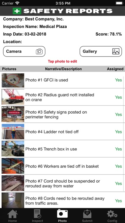 Safety Reports Inspection App screenshot-5