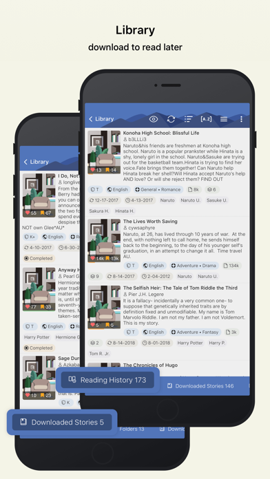 Screenshot for FanFiction.Net in United States App Store