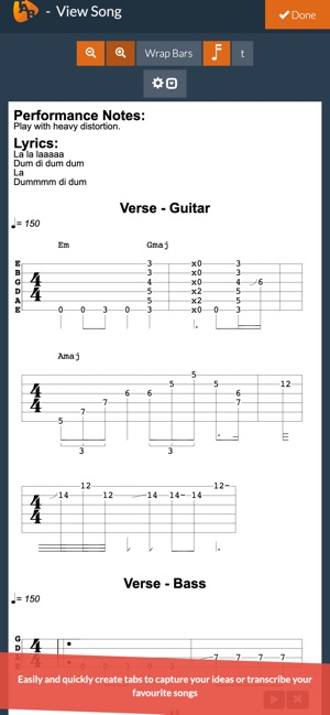 best app for writing guitar tabs