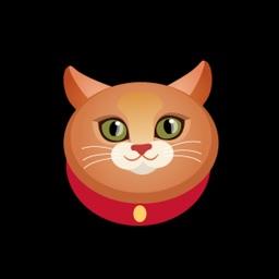 Rich Cat Happy Sticker