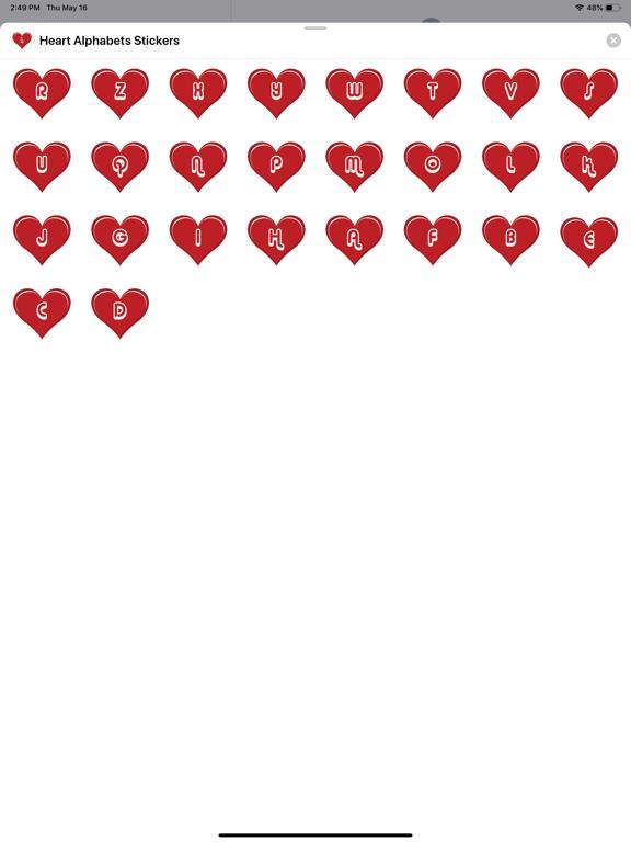Heart Alphabets Stickers screenshot 4