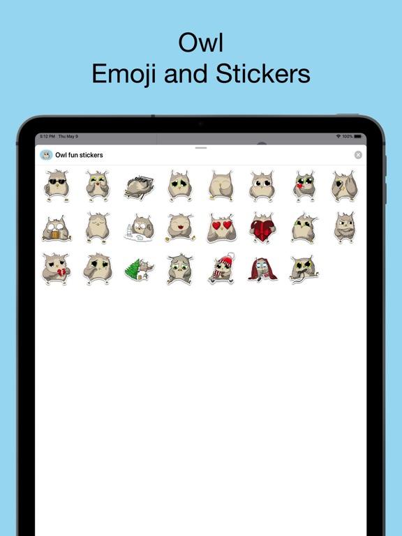 Owl emoji - Funny stickers screenshot 6