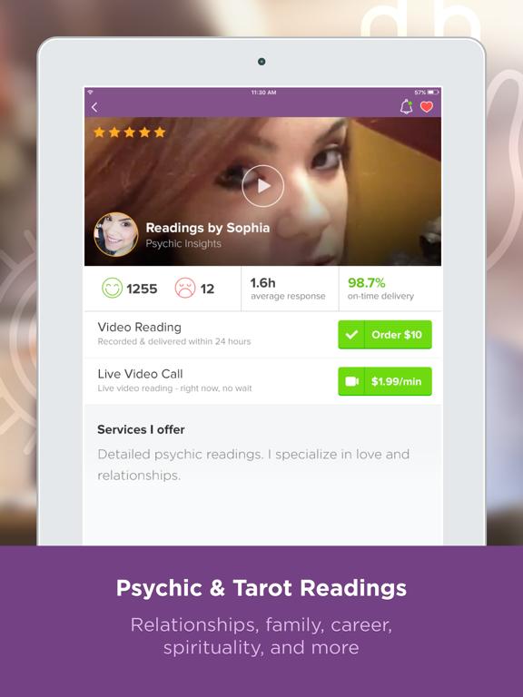 Purple Ocean: #1 Psychic Readings app screenshot