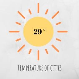 Cities temperature