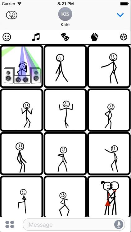 Stickmoji Stickers Animations screenshot-4