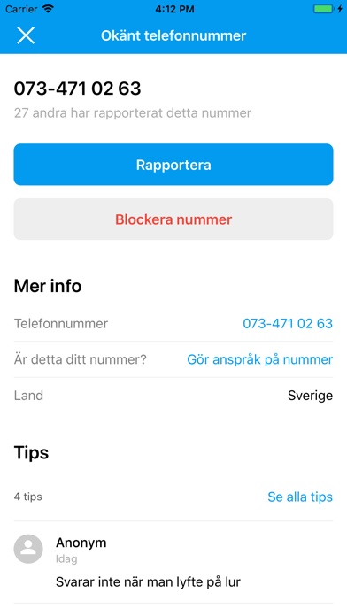 Screenshot for hitta.se in Sweden App Store