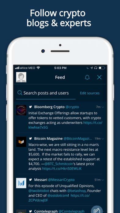 real time cryptocurrency prices app