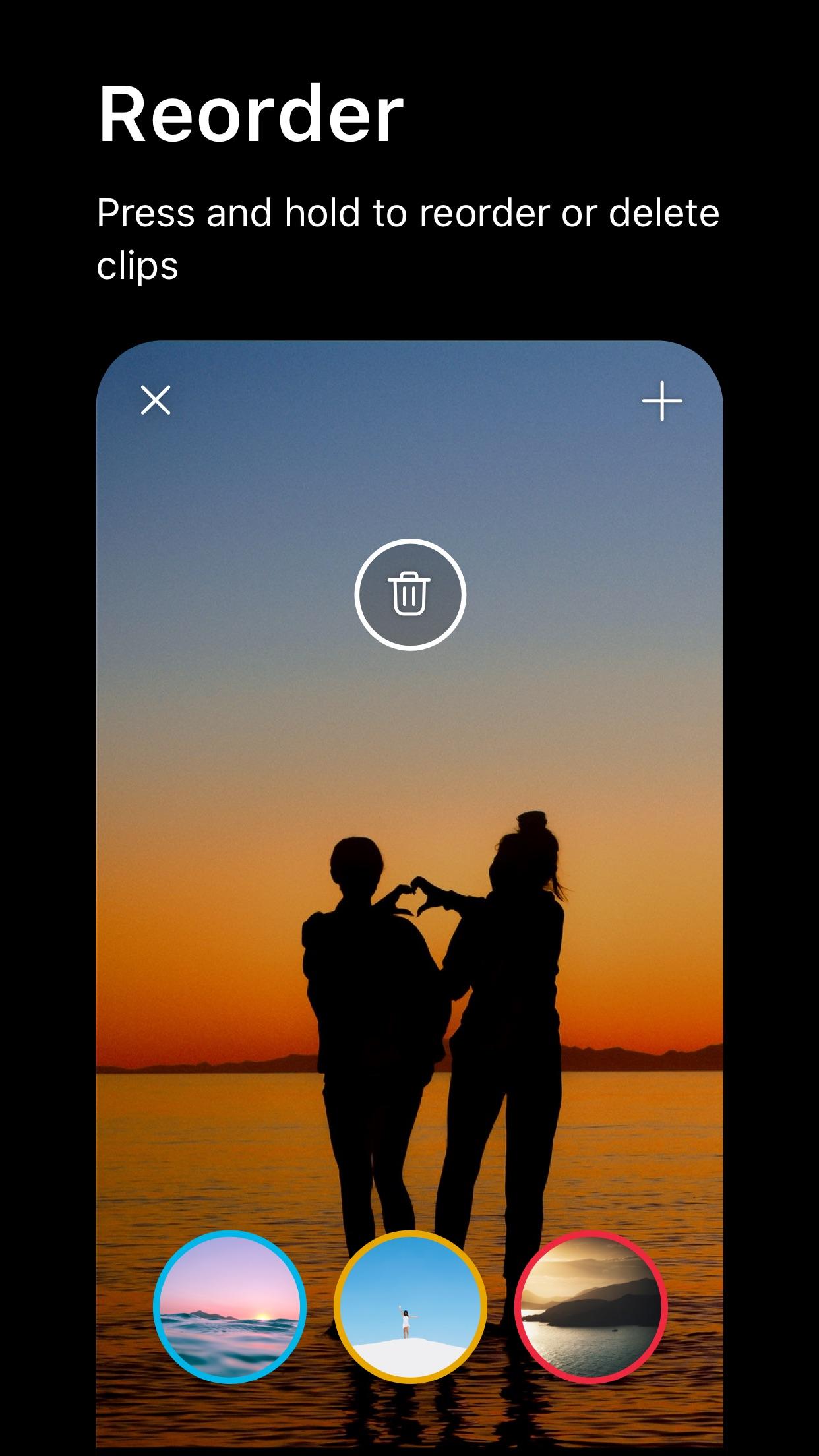 Screenshot do app Spark Camera & Video Editor