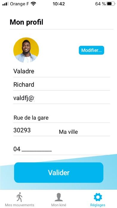 Pause Kiné - Patient Screenshot