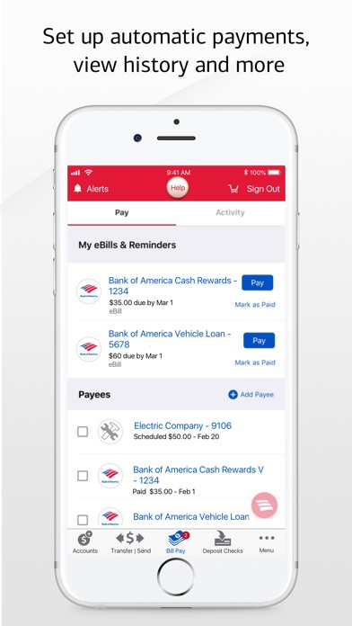 Screenshot for Bank of America Mobile Banking in United States App Store
