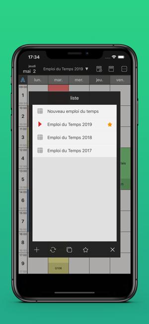 Emploi Du Temps Pratique Dans L App Store
