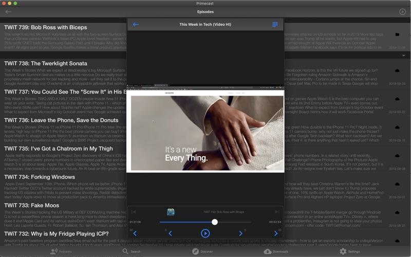 Primecast - A Podcast Player for Mac