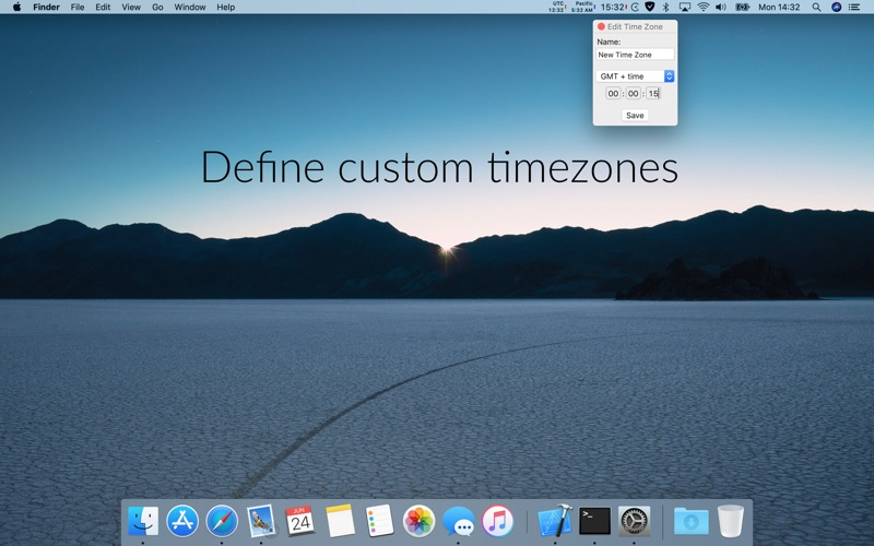 Clockey 2: menu bar clocks Screenshots