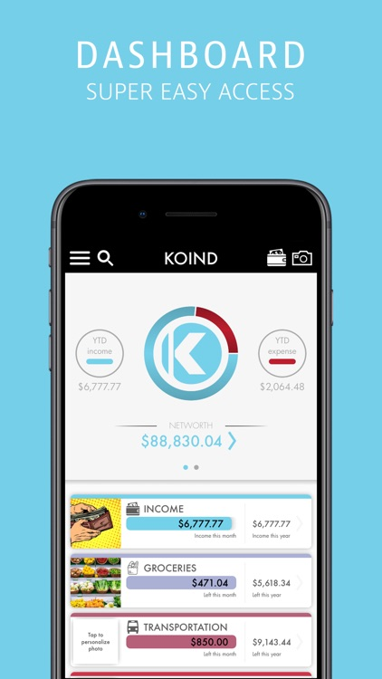 Koind:Budgeting Your Lifestyle screenshot-0