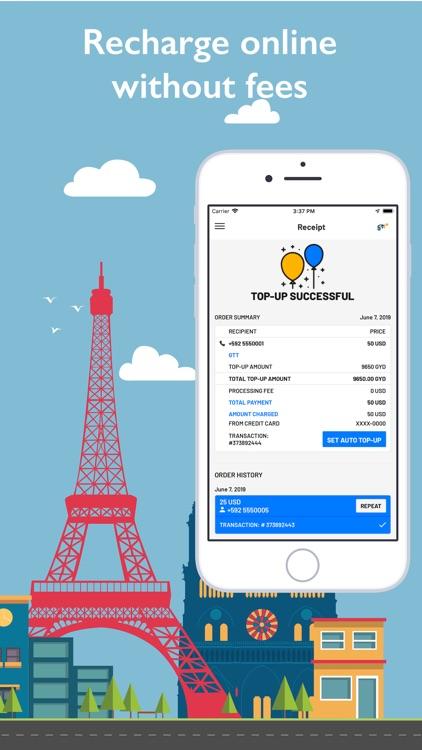 GTT Mobile Top-up