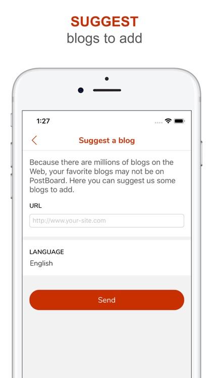 PostBoard - follow blogs screenshot-7