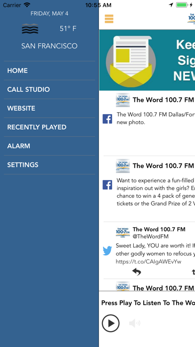 The Word 100.7FM screenshot two