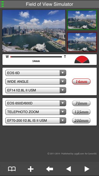 EF Lens Simulator South Asia