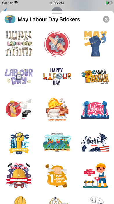 May Labour Day Stickers screenshot 3