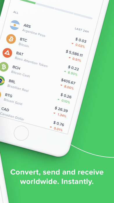 Uphold: buy and sell Bitcoin screenshot two