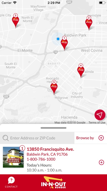In-N-Out Locator
