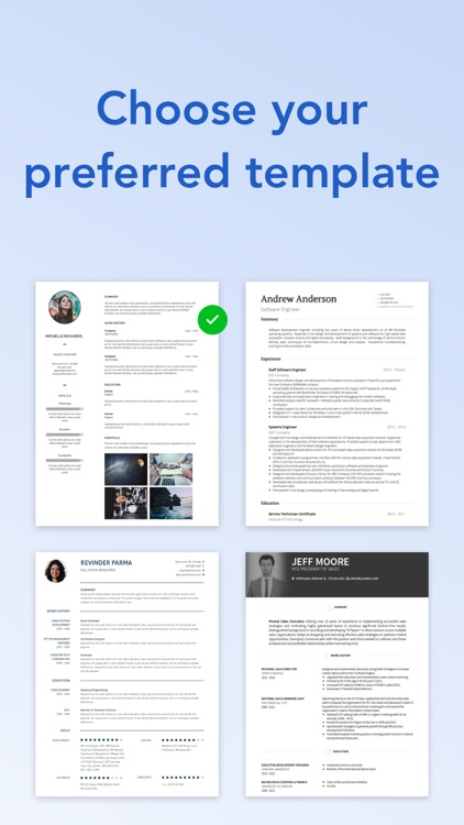 VisualCV Resume Builder screenshot-4