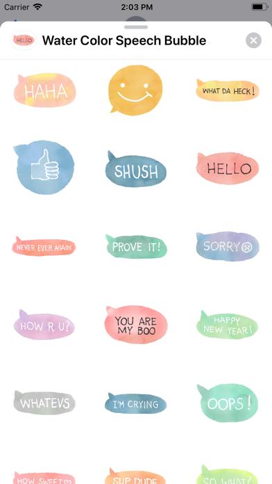 Water Color Speech Bubble screenshot 3