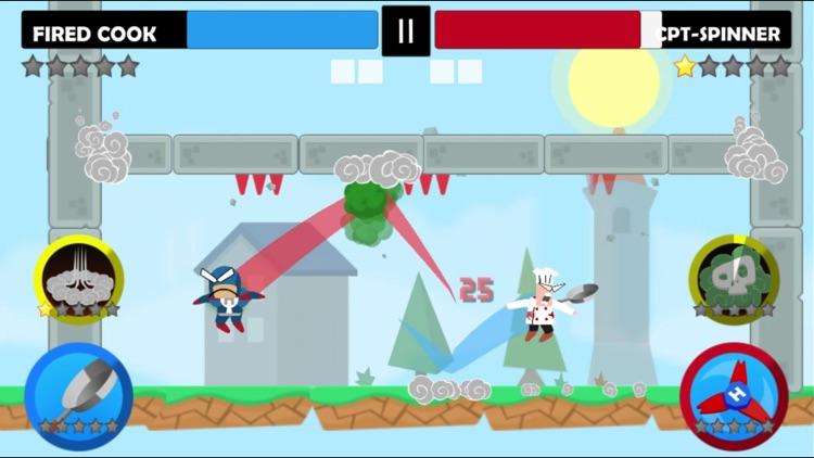 Jumping Ninja Battle - 2Player screenshot-6