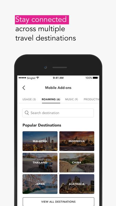 Screenshot #3 pour My Singtel app
