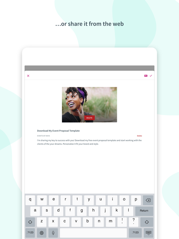 Ipad Screen Shot Curate: Simple Email Marketing 4
