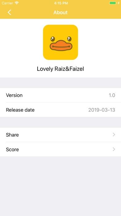 Lovely Raiz&Faizel Stickers screenshot #3