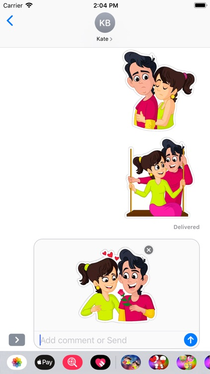 Romantic Love Stickers Emoji