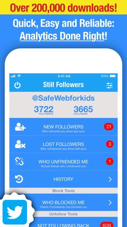 Still Followers for Twitter