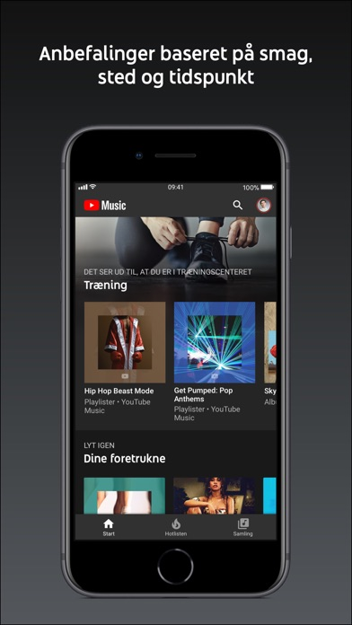 Screenshot for YouTube Music in Denmark App Store