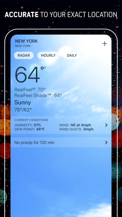 Screenshot for AccuWeather: Weather Tracker in United States App Store