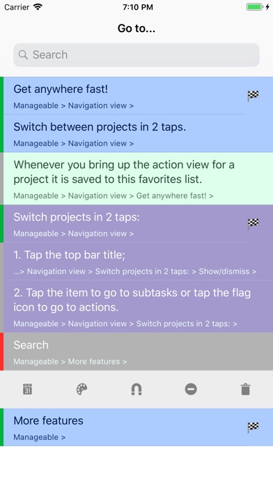 Manageable: Nested ToDo Lists Screenshots