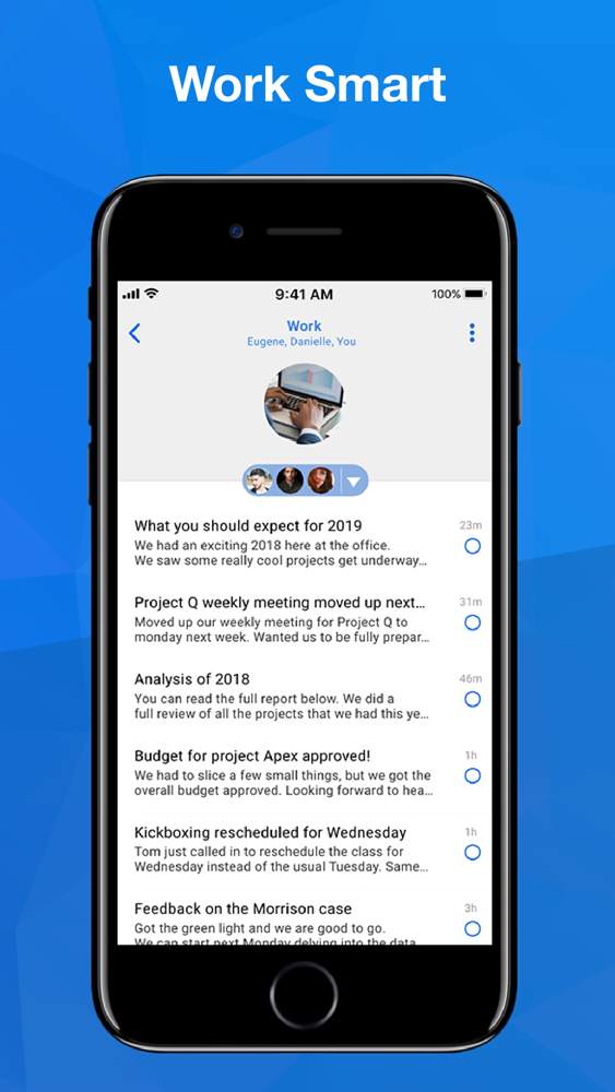 Blue mail app for iphone