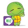 The funny turtle sticker