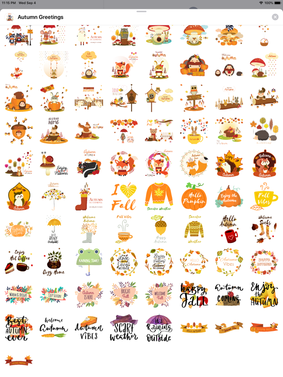 Autumn - Greetings with Animal screenshot 9