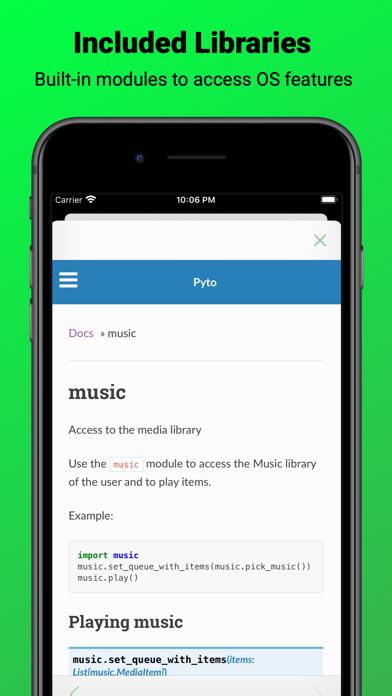 Pyto review screenshots