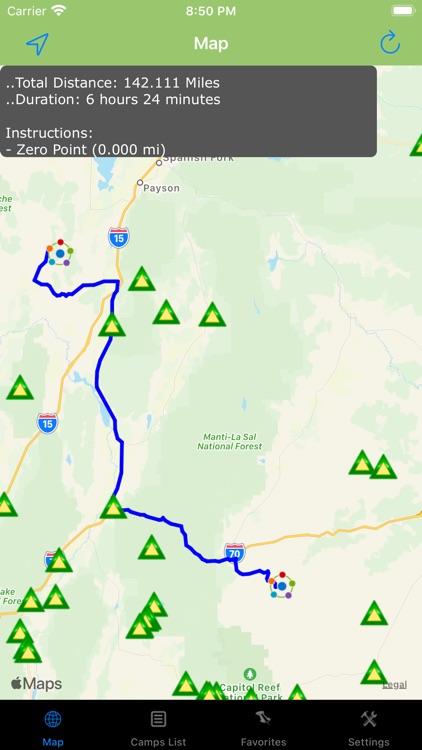 Utah – Camping & RV spots screenshot-3