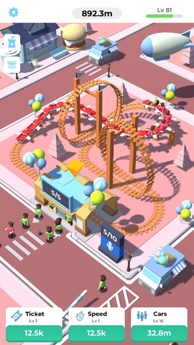 Idle Roller Coaster screenshot 3