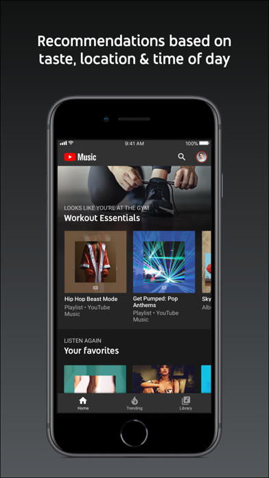 Screenshot of YouTube Music App