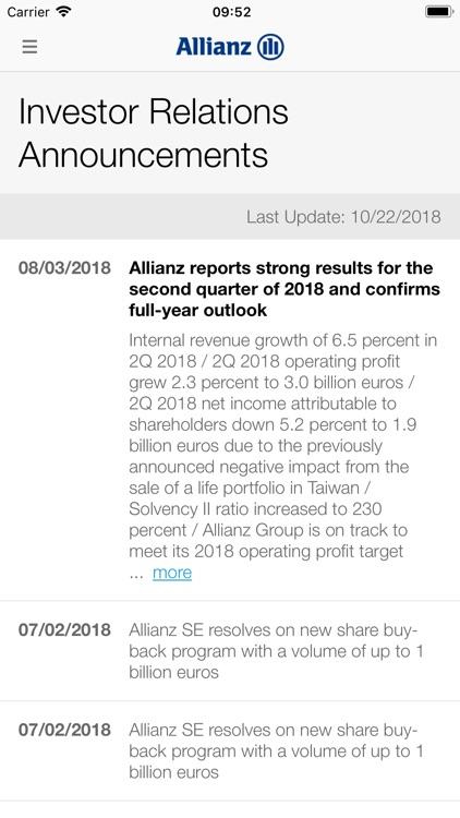 Allianz Investor Relations screenshot-6