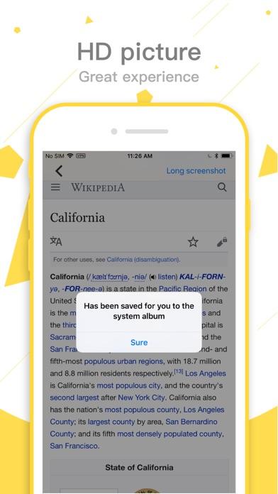 Long screenshot Screenshot
